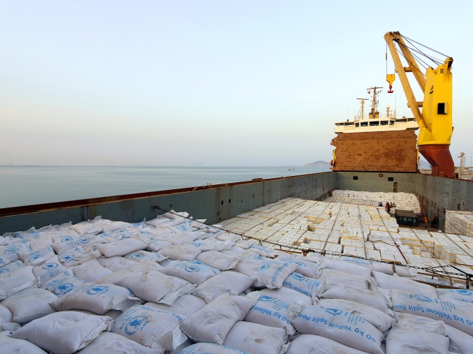 First WFP ship carrying food docks at Aden port as humanitarian needs soar In Yemen