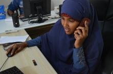 mVAM phone operator in Galkayo, Somalia. Credit: WFP/Lucia Casarin