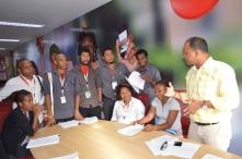 In PNG, phone operators participated in a 3 day mVAM workshop.