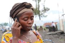 mVAM respondent in Mugunga III, DRC. Credit: WFP/Lucia Casarin